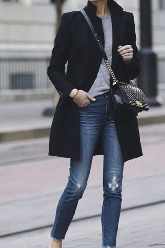مدل پالتو کتی کوتاه دخترانه مشکی