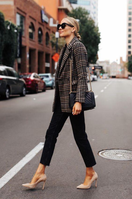 مدل پالتو کتی دخترانه کوتاه چهارخونه