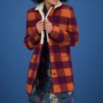 مدل پالتو چهارخونه دخترانه رنگی