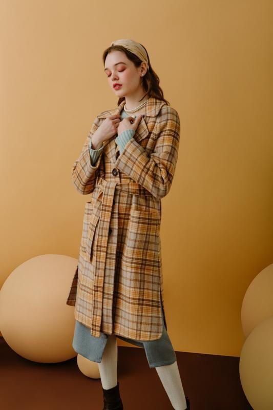 مدل پالتو کتی چهارخونه شیک دخترانه
