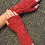 مدل ساق دست دخترانه بافتنی قرمز