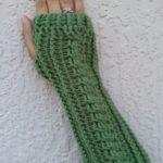 مدل ساق دست بافتنی دخترانه سبز