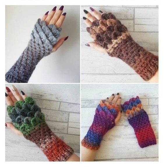 مدل ساق دست بافتنی دخترانه هفت رنگ