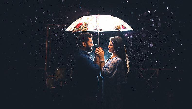 عکس در شب برقی عاشقانه برای پروفایل