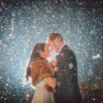 عکس برفی عاشقانه در شب برای پروفایل