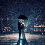 عکس برفی عاشقانه در شب با کیفیت