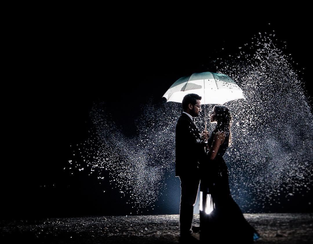 عکس خاص برف در شب عاشقانه برای پروفایل