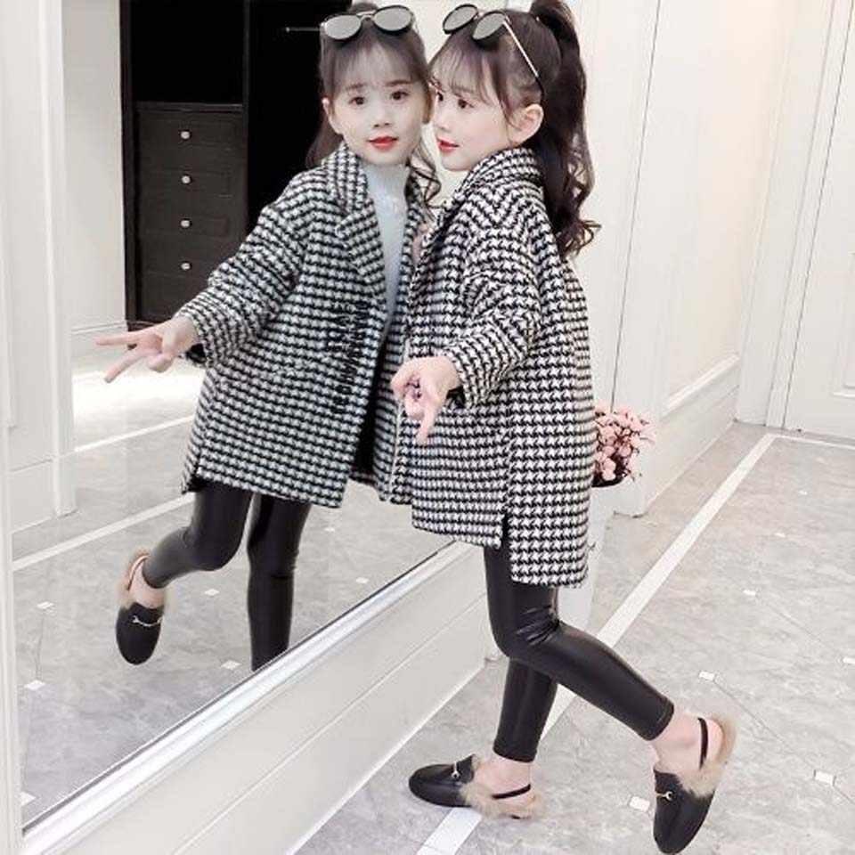 مدل پالتو چهارخونه بچگانه دخترانه 2021