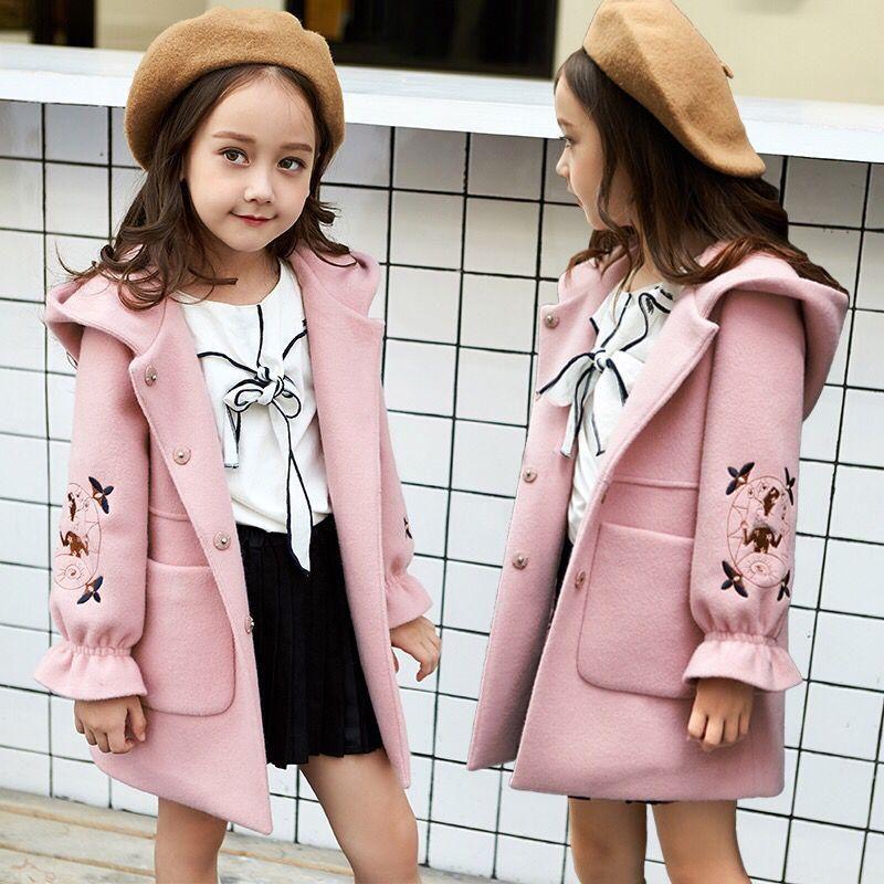 مدل پالتو شیک بچگانه دخترانه 2021 صورتی