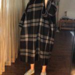مدل مانتو جلو بسته دخترانه اسپرت چهارخونه