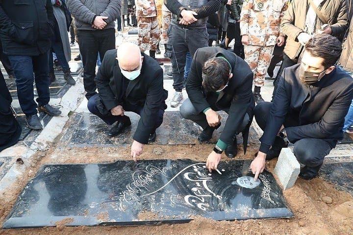 عکس از محل دفن علی انصاریان