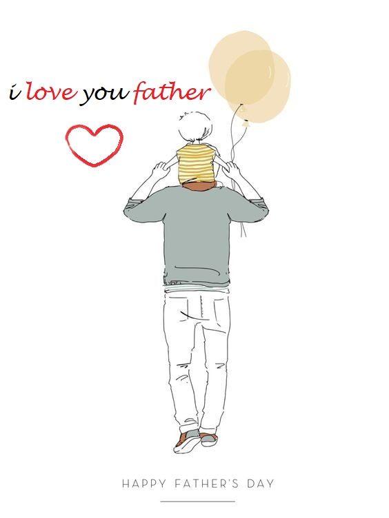 عکس نوشته پدرم عاشقانه دوستت دارم انگلیسی