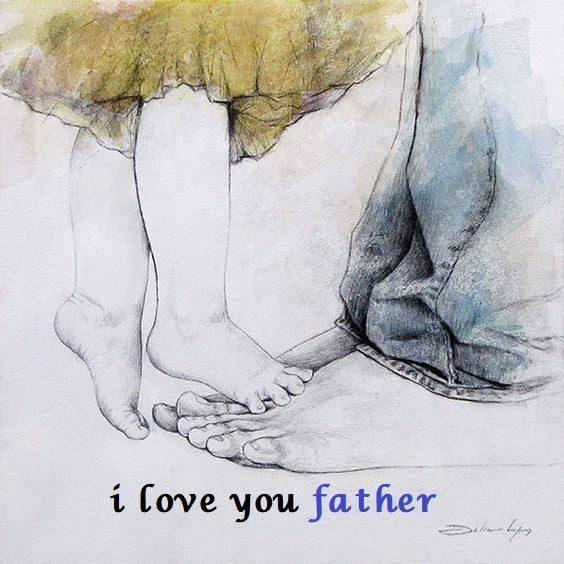 عکس نوشته پدرم دوست دارم انگلیسی برای پروفایل