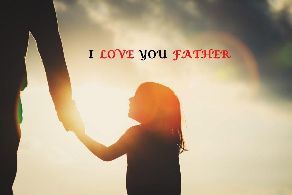عکس نوشته پدر عزیزم دوستت دارم انگلیسی
