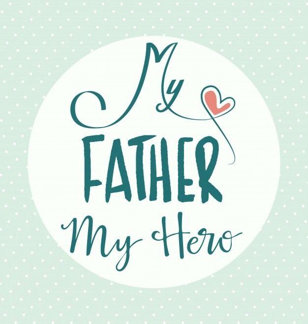 عکس نوشته پدرم دوستت دارم قهرمان زندگیم انگلیسی