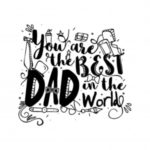 تصویر روز پدر برای پروفایل با نوشته انگلیسی