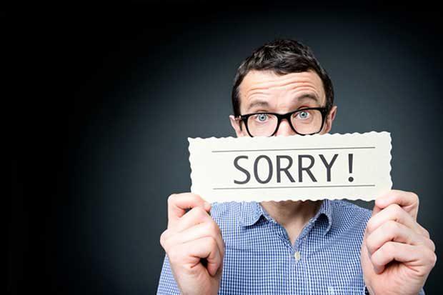 متن عذرخواهی از همکار