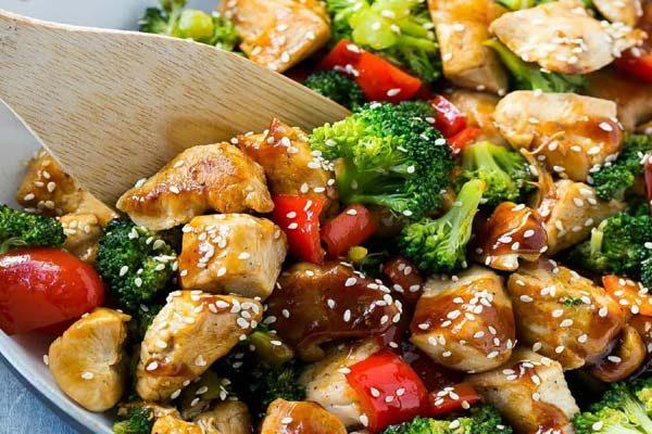 مرغ و سبزیجات_ رژیمی