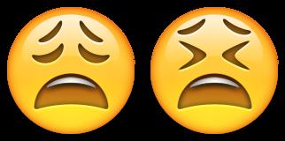ایموجی صورت در حالت خستگی