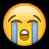 ایموجی صورت با گریه شدید