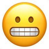 ایموجی صورت در حال دندان ساییدن