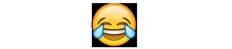 ایموجی صورت خندان با اشک