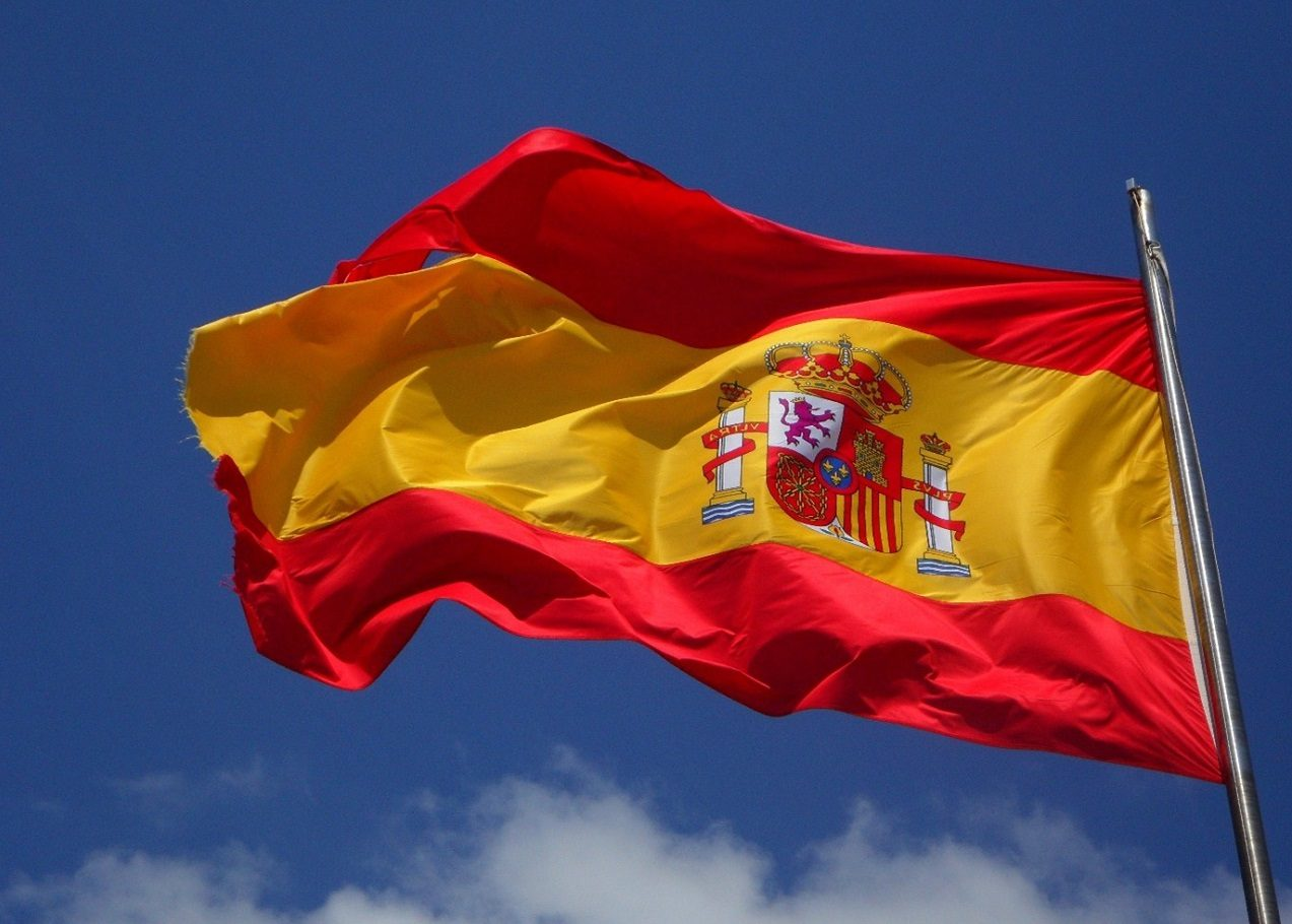 عکس از پرچم کشور اسپانیا