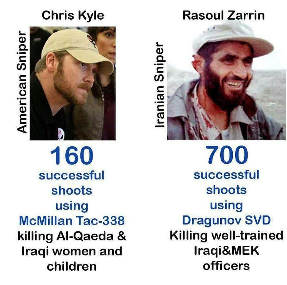 مقایسه رسول زرین و کریس کایل