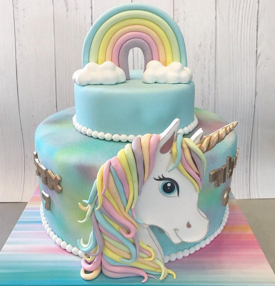 کیک تولد مدل یونیکورن
