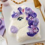کیک تولد یونیکورن بنفش
