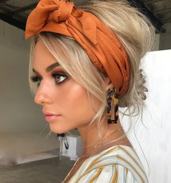 عکس مدل مو با باندانا تلی
