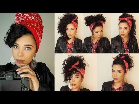عکس بستن موی فر با باندانا